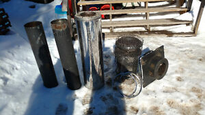 WOOD STOVE PIPE FOR ICE SHACK