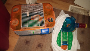 LOTS of Hamster/Gerbil tubes, cages, accessories!!