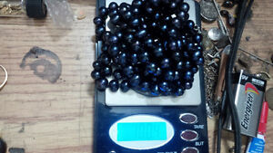Akoya Salt Water Black Pearls 50 Inches 502 Carats