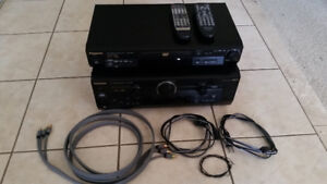 Panasonic Stereo Receiver and DVD player