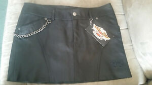 LEATHER HARLEY DAVIDSON SKIRT AND KNEE HIGH RED SPRING/WINTER BO