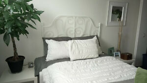 White Ikea Bedroom Set and Bassett Mattress Kingston Kingston Area image 3
