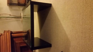 Black coffee table with Glass top