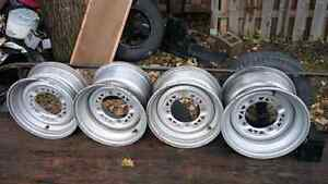 4 polaris steel rims new condition