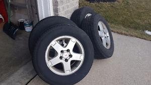 235/65 R16 all season Tires, rims &  pressure sensors