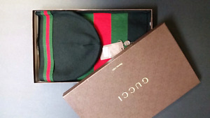 Gucci scarf and hat set beenie Tuque et foulard Cashmere hermes