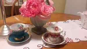 Royal Albert and Windsor China Cups