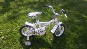 12 inch bike with training wheels. Like new