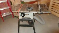 solid Beaver table saw 8 inch blade runs good