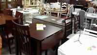 Drop leaf table + 2 chairs - New