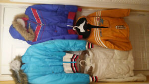 Girl Assorted Winter Coats, Size 8/10, Small and Medium