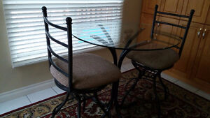 Bar Height Dinette Set with 2 chairs