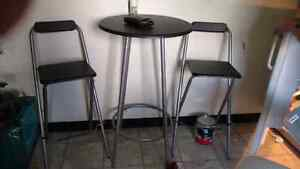 Pub table and 2 chairs