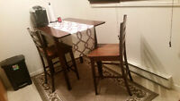 Hardwood Kitchen Table and Chairs