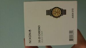 38-20 Black and Gold Nixon Chronos Watch