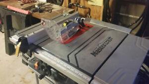 Master Craft hawkeye laser table saw -10 inch-with folding legs