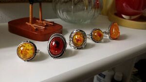 sterling silver rings with amber stones Gatineau Ottawa / Gatineau Area image 2