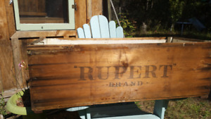 Rustic wood shipping crate