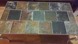 Cast iron coffee table that u can change the tiles