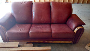 Leather couch. Must go. Good condition.