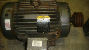 15 HP electric motor ,Baldor-Reliancer 3 phase 575 volts