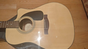 Fender Acoustic Guitar CD-60 CE Natural with Hard Case