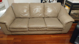 Chesterfield leather sofa and love seat