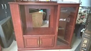 Free 32inch tube tv with entertainment center
