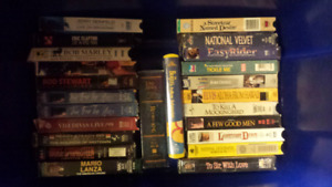 Assortment of VHS movies