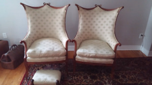 Antique Wing Arm Chairs