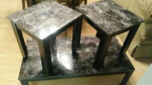 Coffee table plus matching end tables