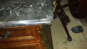 2 extra large tall jumbo nightstands . Marble top Kitchener / Waterloo Kitchener Area image 3