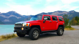 2007 HUMMER H3 SUV *RED* VERY LOW KM