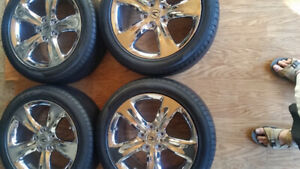 "Acura  TL  18"" chrome OEM  rims and Pirelli tires"