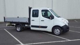 2014 14 PLATE VAUXHALL MOVANO R3500 L3H7 CREW CAB TIPPER