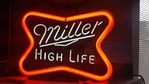 LARGE MILLER BOWTIE BEER SIGN