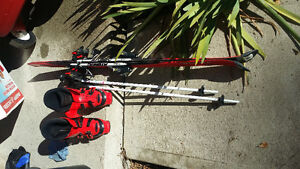 Kids ski, boots, binding & poles
