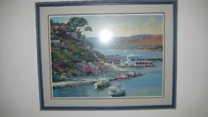 Framed Large Poster - view of Sausalito, Ca.  from San Francisco