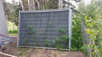 Construction fence panels