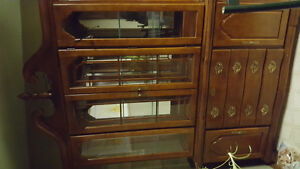 Beautiful two piece display cabinet