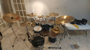 Pearl Drum Rack and Drum Hardware For Sale