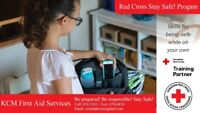 NEW! Red Cross Stay Safe! Program for ages 9+. July 28!