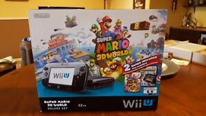 Like New- Wii U  SuperMario 3D World Deluxe set and extras