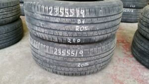 Pair of 2 Pirelli Scorpion Verde AS (run-flat) 235/55R19 tires (