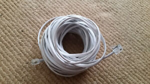 Plug  telephone cable.   50 feet ( 600 inches) like new  $5*