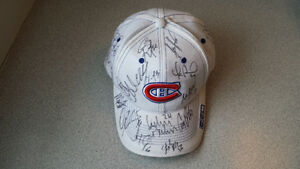 2002 Montreal Canadiens Autographed Hat (19 Player's Autographs)