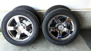 "Silverado SS - 20"" Factory Chrome Rims & Tires"