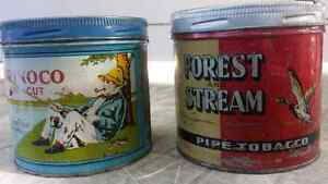 Orinoco & Forest and Stream tobacco tins
