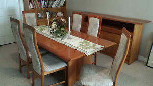Solid Cherry Table, 6 chairs Cambridge Kitchener Area image 3