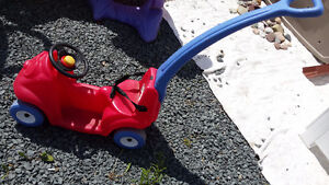Child's Push Car with Safety Belt